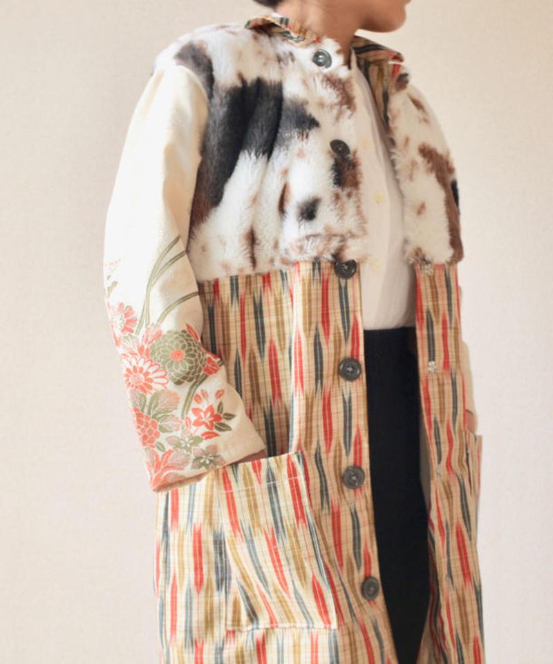 kimono x Fur winter long coat (no.072)