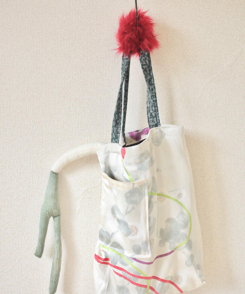 Fur x Silk Kimono winter tote bag ② (no.111)