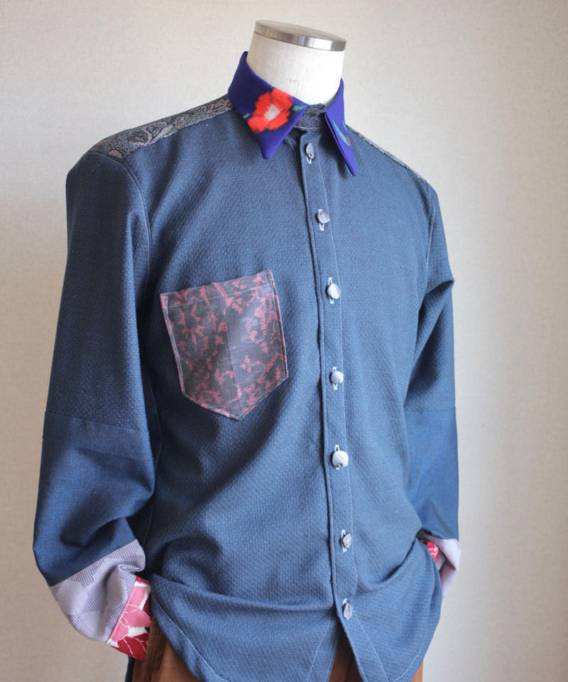 Men's casual Only One shirt : blue (no.134)