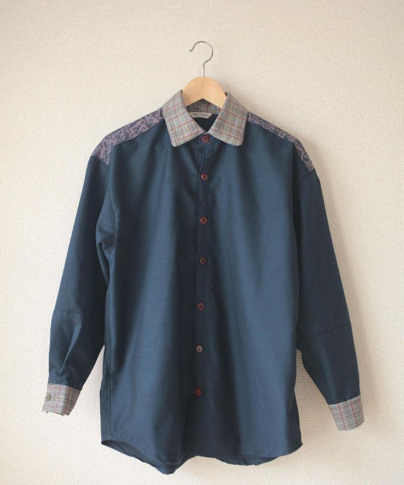 Men's dark blue casual shirt (no.080)