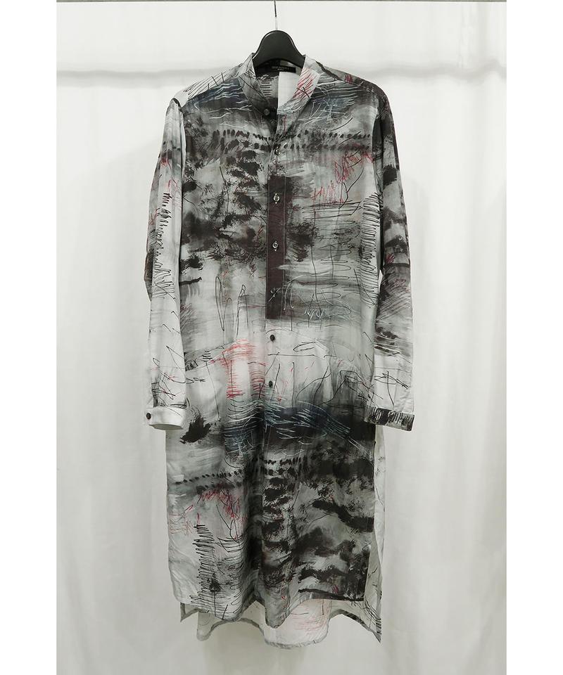 "DU-108 ""DISTORTION3"" Limited Inkjet Print Long Shirt"