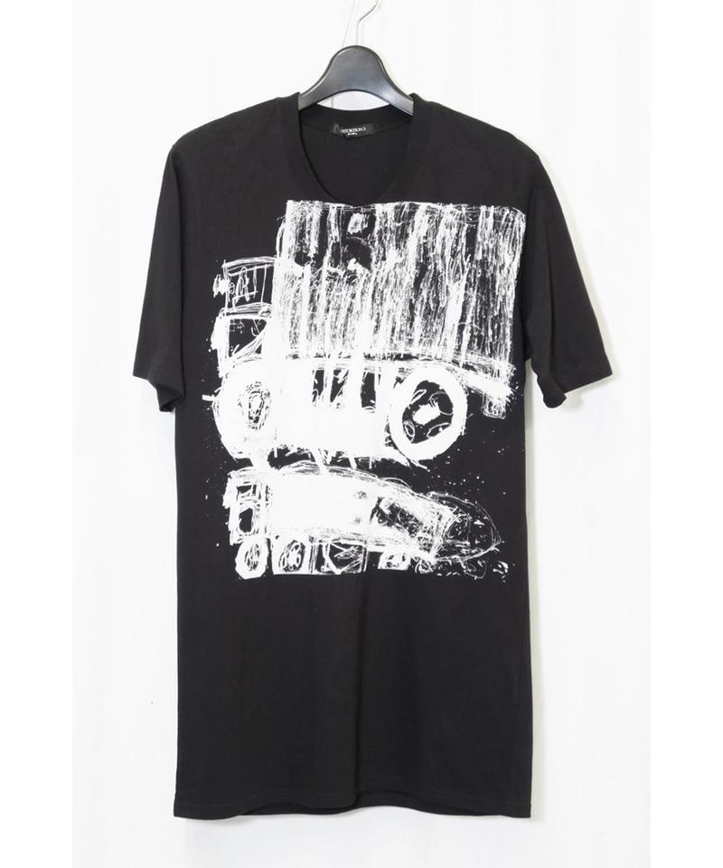 """DU-112 """"DISTORTION3"""" Truck Print T Shirt"""