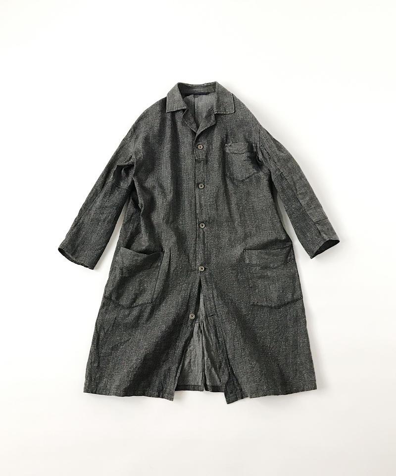 Salt&pepper atelier coat -patched-