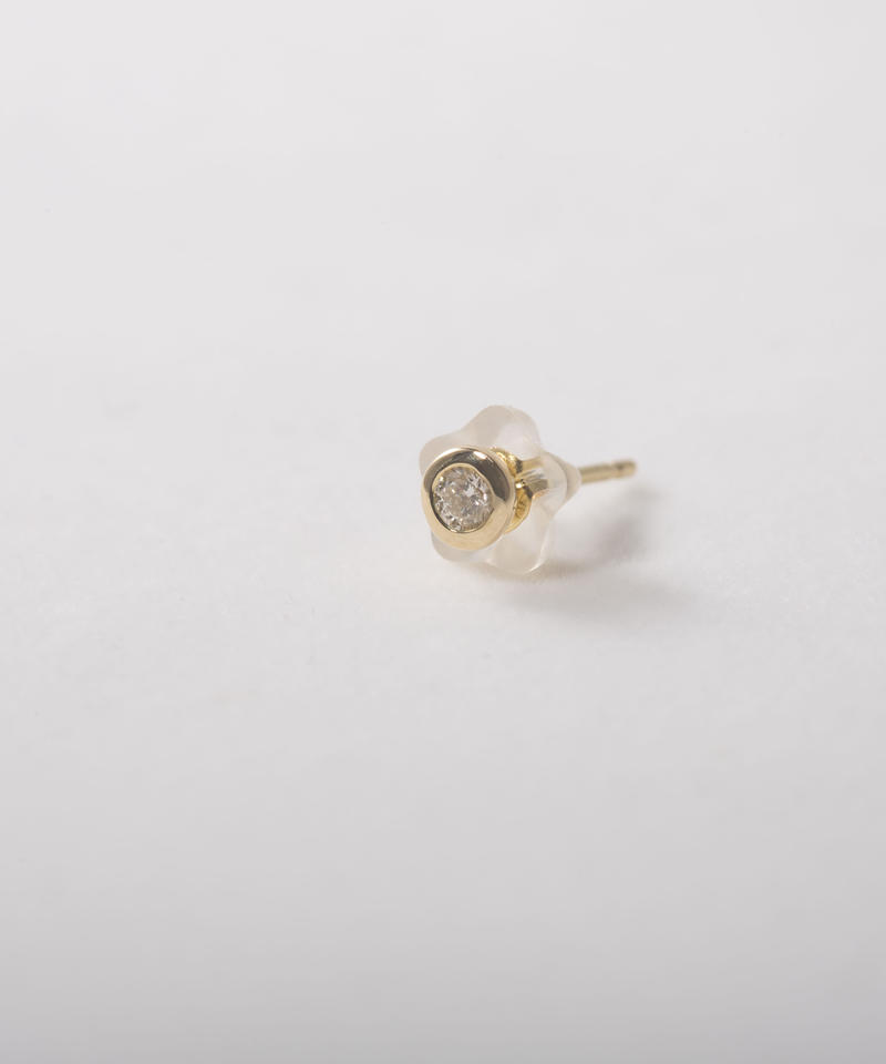 18K Yellow Gold Diamond  Pierce(ピアス1個)