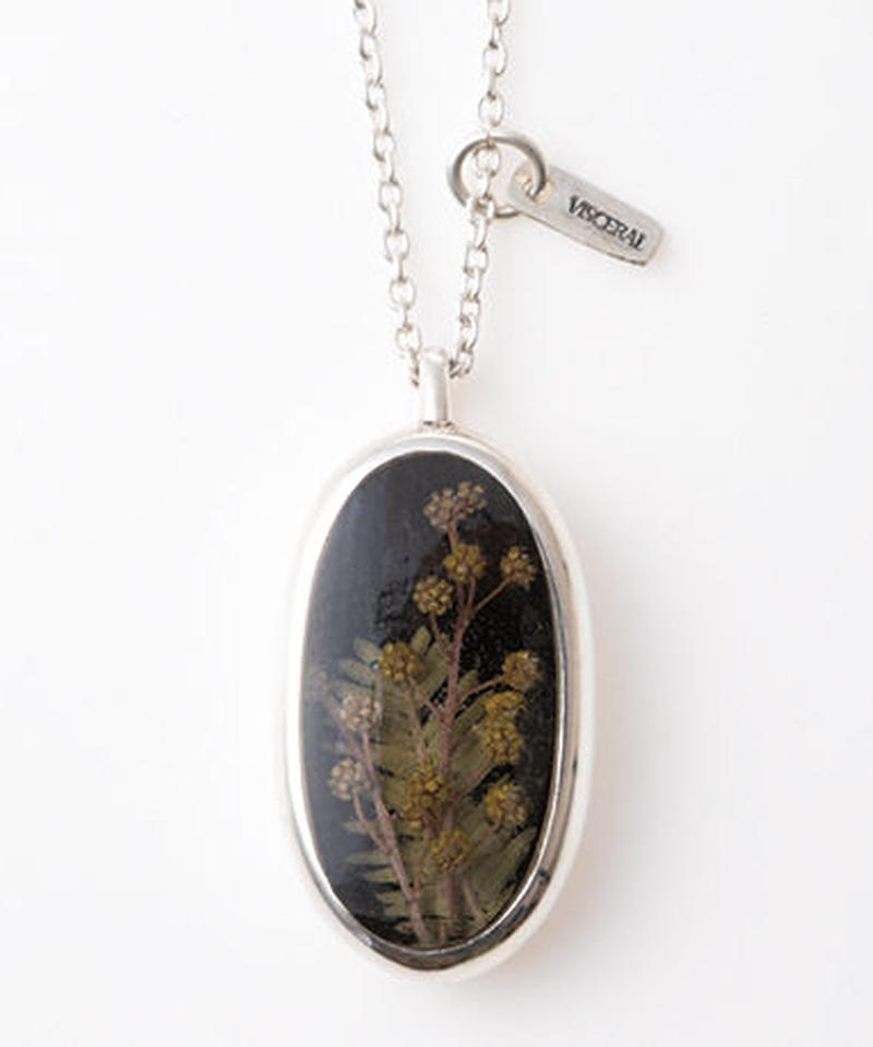 Herbarium Necklace・Mimosa・(Black)