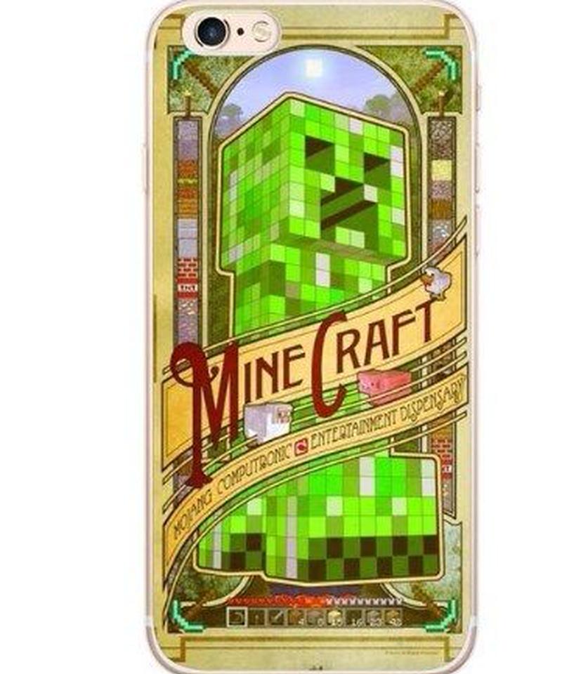 Minecraft BIGプリント  ハードPC iPhoneカバー iPhone X対応 クリーパー  スタイリッシュデザイン