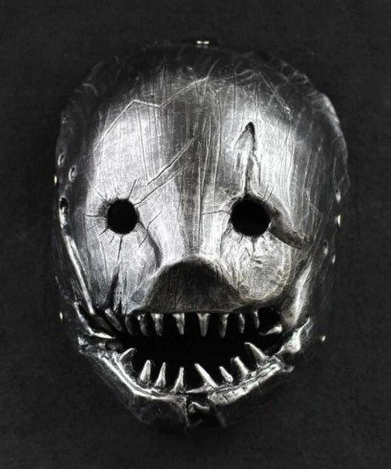 Dead by Daylight キラー トラッパー 仮面 レジン製 艶感シルバー コスプレ マスク  ハロウィン アイテム ワンサイズ