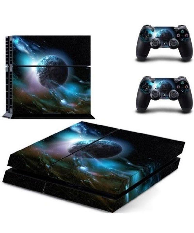 Playstation4用 幻想的 宇宙 星空柄 スキンシール PS4 カスタマイズ ステッカー 選べる5パターン