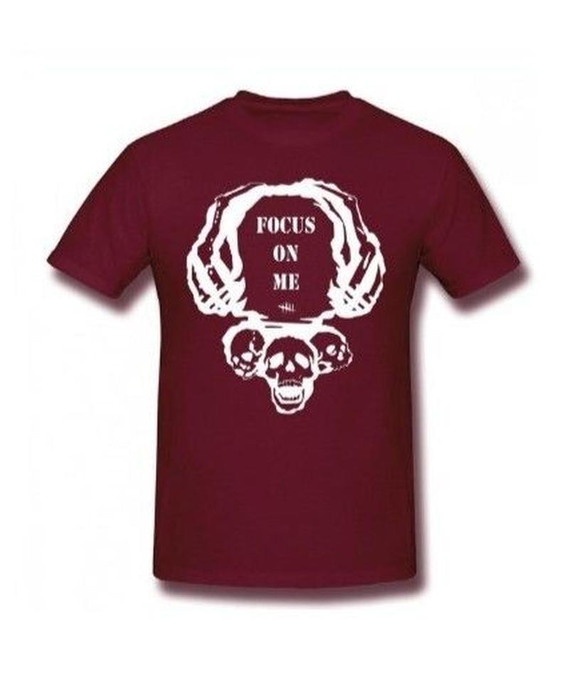 Dead by Daylight スカルイラスト 文字デザインシンプル 半袖 Tシャツ メンズ トップス 春夏 100%コットン S~6XL ブラウン