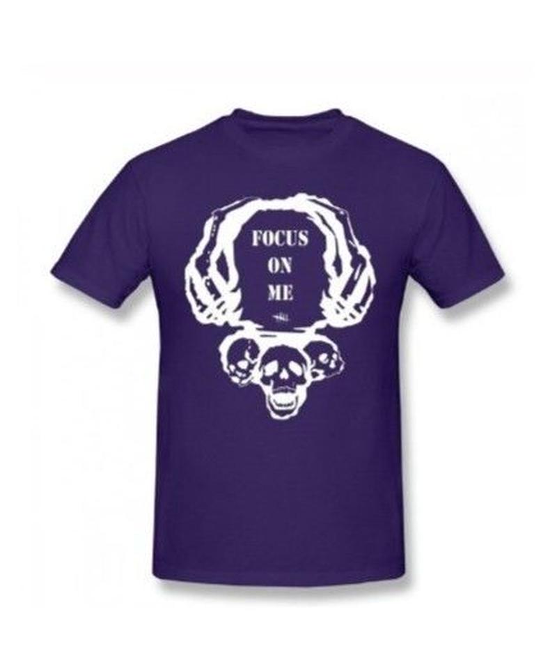 Dead by Daylight スカルイラスト 文字デザインシンプル 半袖 Tシャツ メンズ トップス 春夏 100%コットン S~6XL パープル