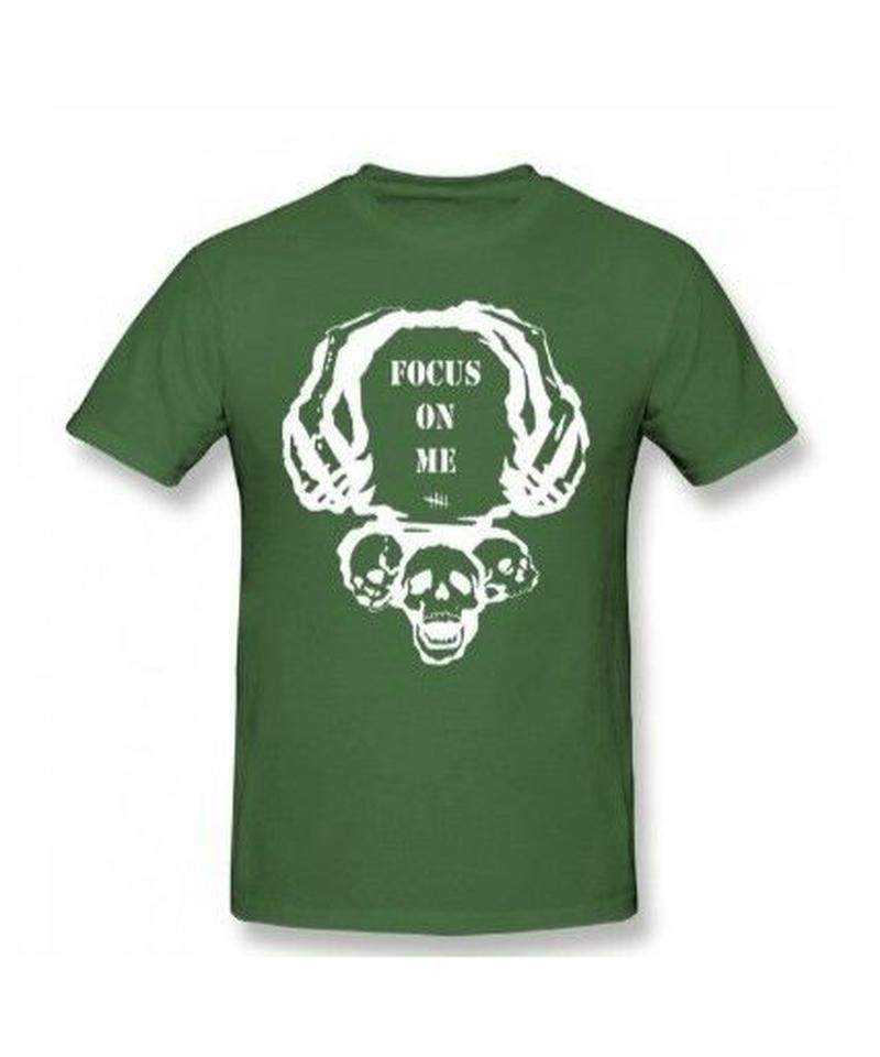 Dead by Daylight スカルイラスト 文字デザインシンプル 半袖 Tシャツ メンズ トップス 春夏 100%コットン S~6XL アーミーグリーン