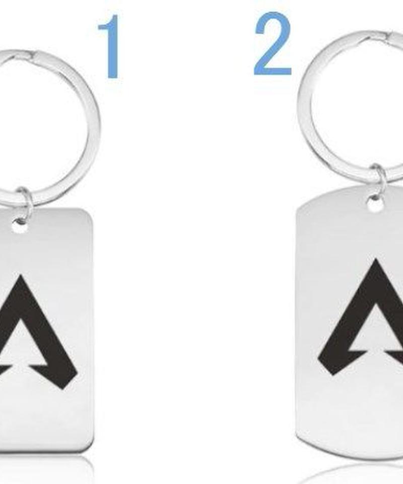 APEX LEGENDS ステンレススチール ロゴデザイン キーチェーン 選べる6タイプ シンプル キーリング