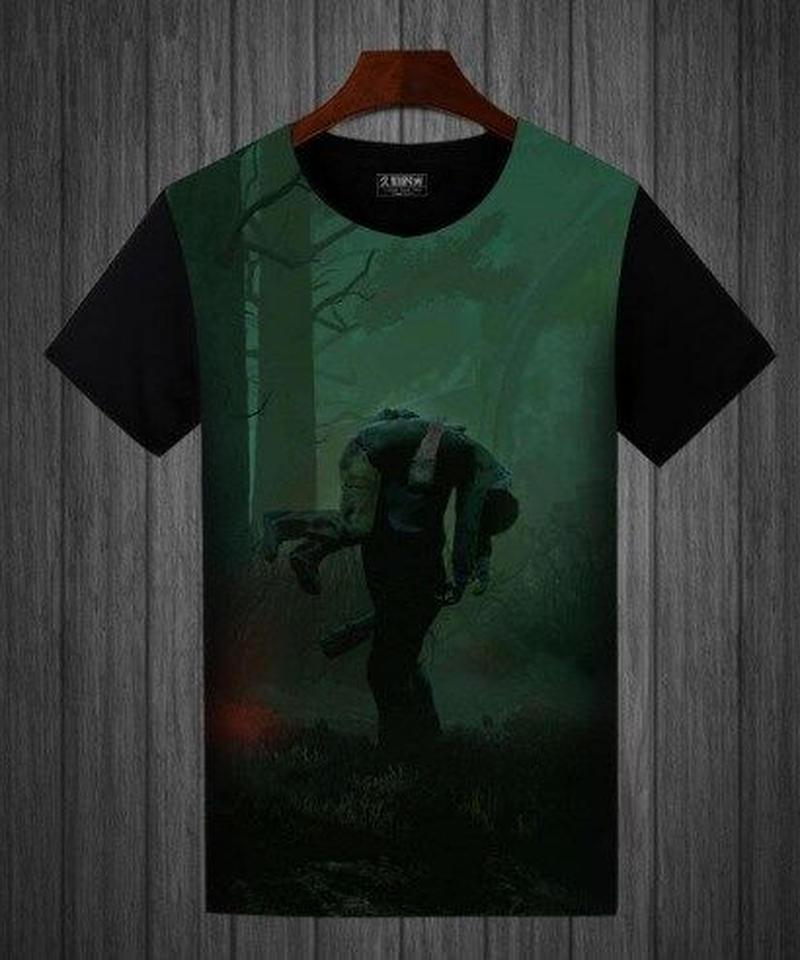 Dead by Daylight キラー サバイバー 担ぎデザイン フルプリント 半袖 メンズ Tシャツ バイカラー S~5XL