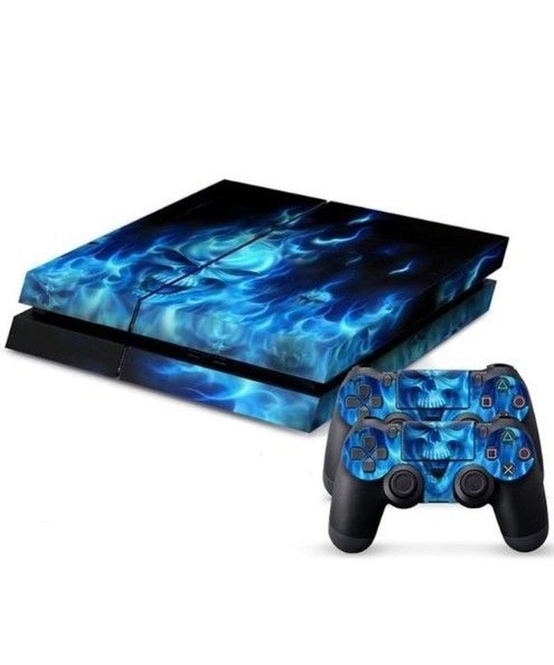 Playstation4用 フル スカルディテール スチームパンク ロック スキンシール PS4 カスタマイズ ステッカー