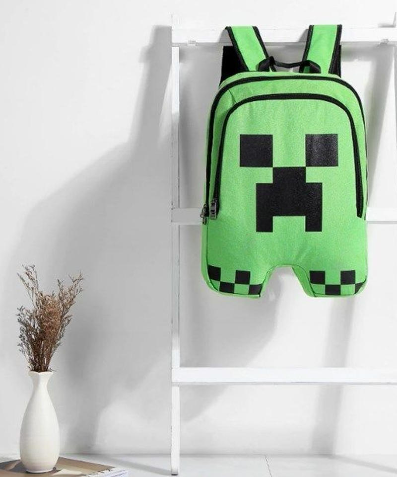 Minecraft クリーパー バックパック 大容量 立体デザイン 男女兼用 リュックサック