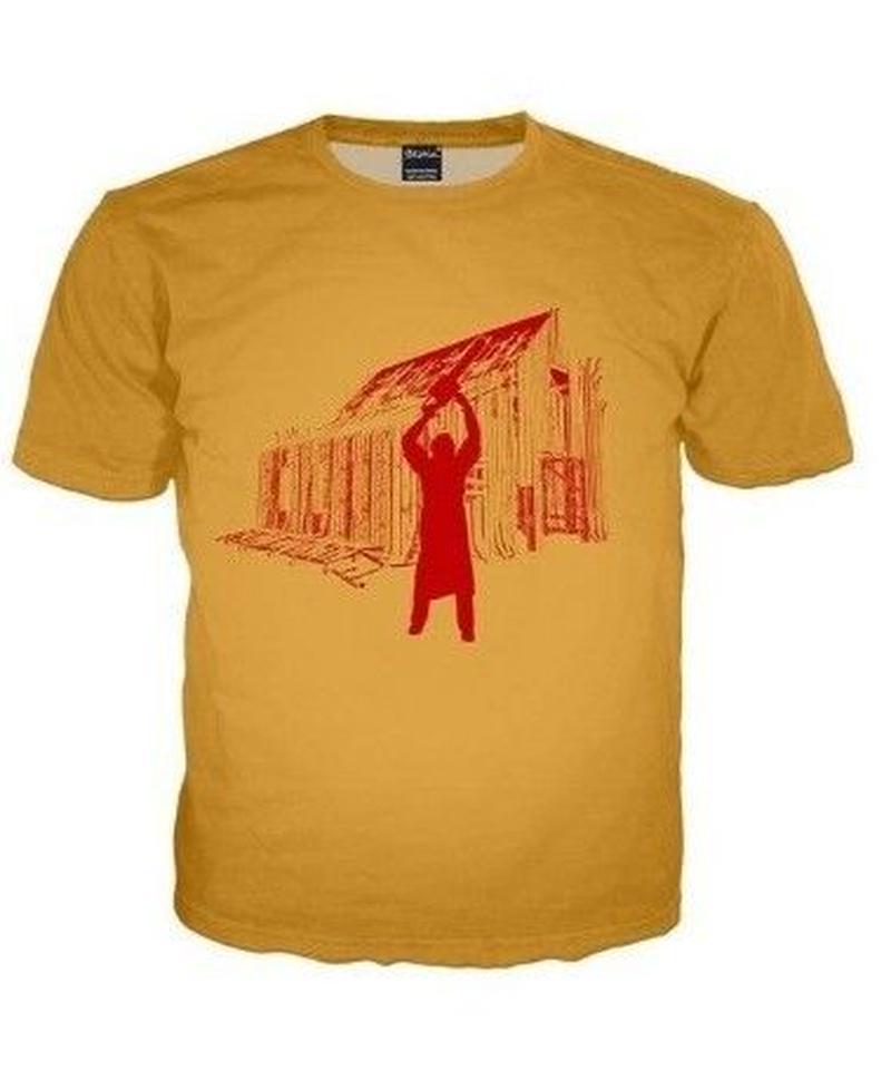 Dead by Daylight レッド シルエットプリント キラー カニバル フロントプリント コットン 半袖 メンズ Tシャツ 夏服 S~5XL