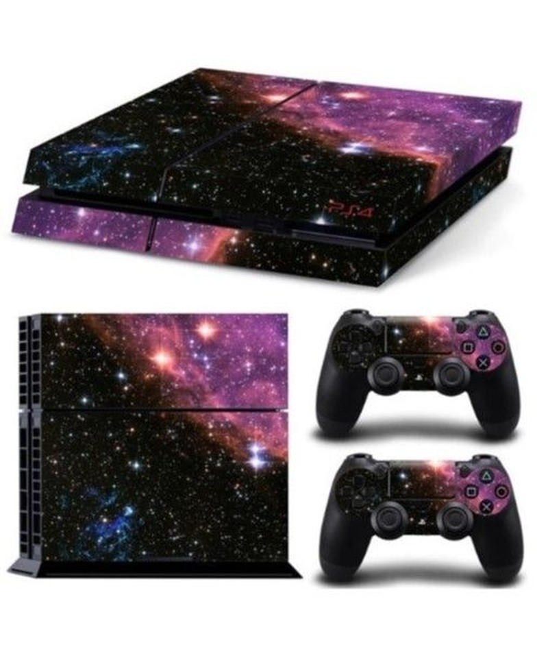 Playstation4用 幻想的 星空柄 スキンシール PS4 カスタマイズ ステッカー 選べる9パターン