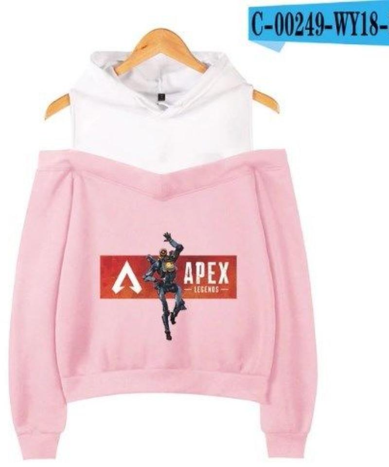 APEX LEGENDS プリント レディース オフショルダー パーカー 長袖 春夏 トップス XS~XXL