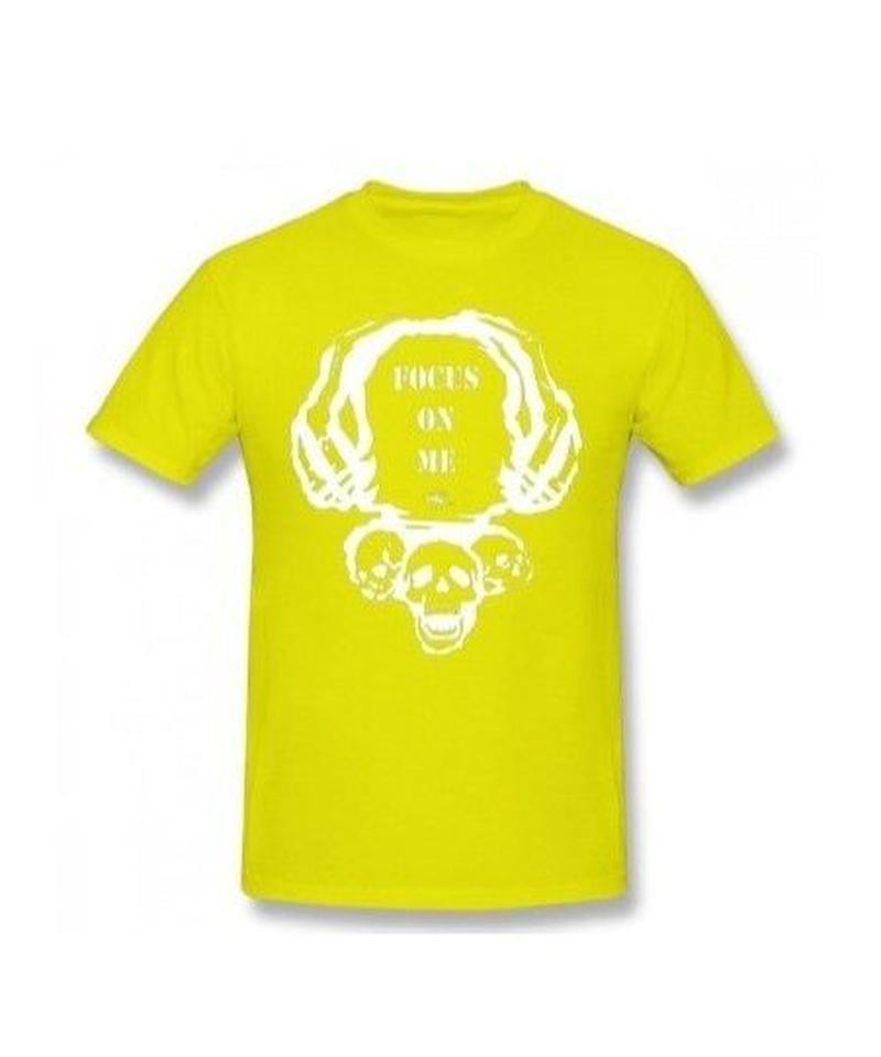 Dead by Daylight スカルイラスト 文字デザインシンプル 半袖 Tシャツ メンズ トップス 春夏 100%コットン S~6XL イエロー