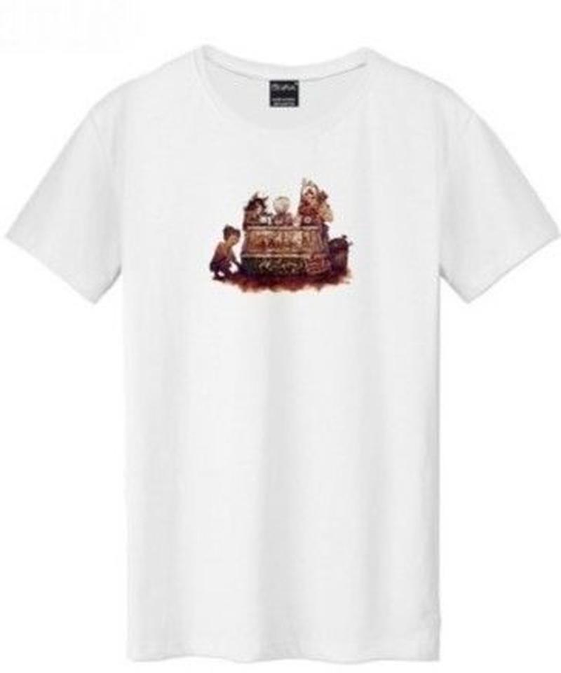 Dead by Daylight コミカル キラー ユニークイラスト ハントレス ハグ 半袖 メンズ ホワイト Tシャツ S~XXXL