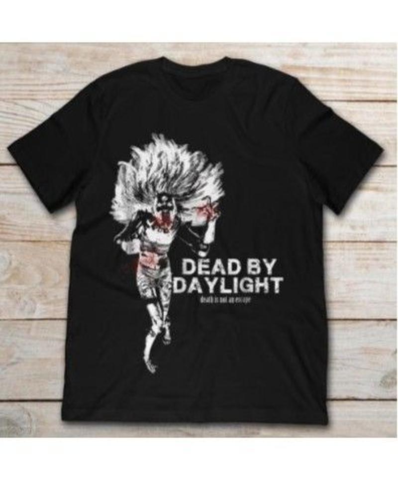 Dead by Daylight キラー スピリット イラストデザイン メンズ カジュアル 半袖 Tシャツ 夏服  S~XXXL ブラック