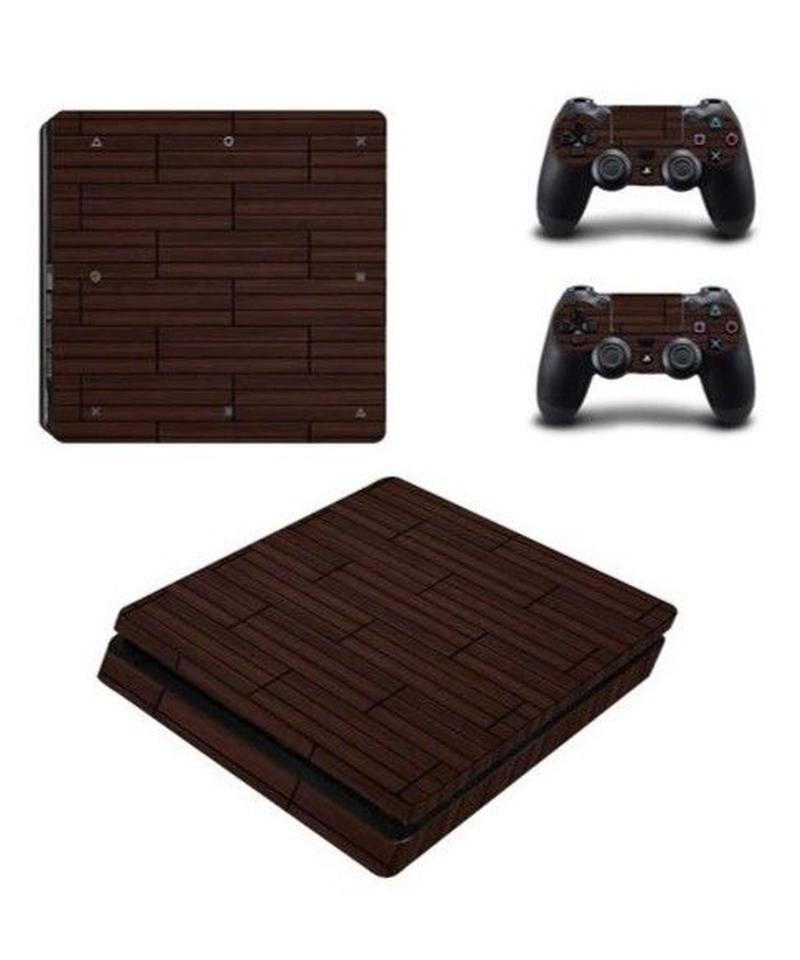 Playstation4スリム専用 ナチュラル 自然 木目調デザイン 大人 スキンシール PS4 カスタマイズ ステッカー 選べる2タイプ