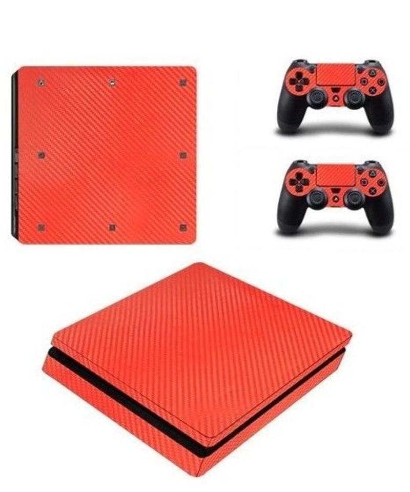 Playstation4スリム専用 カーボンファイバー風 メタルテイスト クールデザイン 大人 スキンシール PS4 カスタマイズ ステッカー 選べる2タイプ