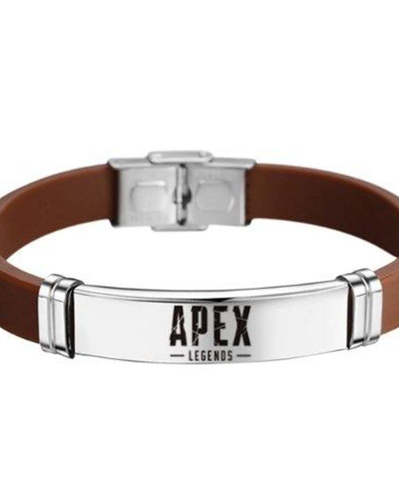 APEX LEGENDS ユニセックス ゲームロゴ ステンレススチール ブレスレット シリコン リストバンド  選べる9カラー
