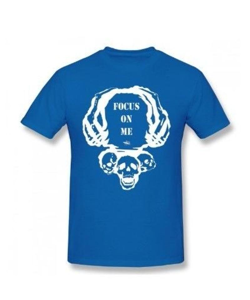 Dead by Daylight スカルイラスト 文字デザインシンプル 半袖 Tシャツ メンズ トップス 春夏 100%コットン S~6XL ブルー