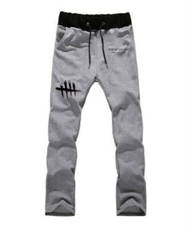 Dead by Daylight シンプル ロゴデザイン メンズ ジョガーパンツ カジュアル ウエストゴム ハーレムパンツ S~XXXL ブラックグレー