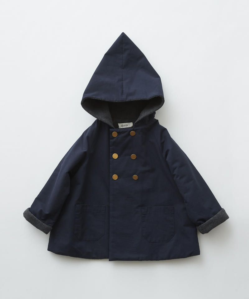 【 eLfinFolk 2019AW 】elf-192F22 elf coat / navy / 110 - 130cm