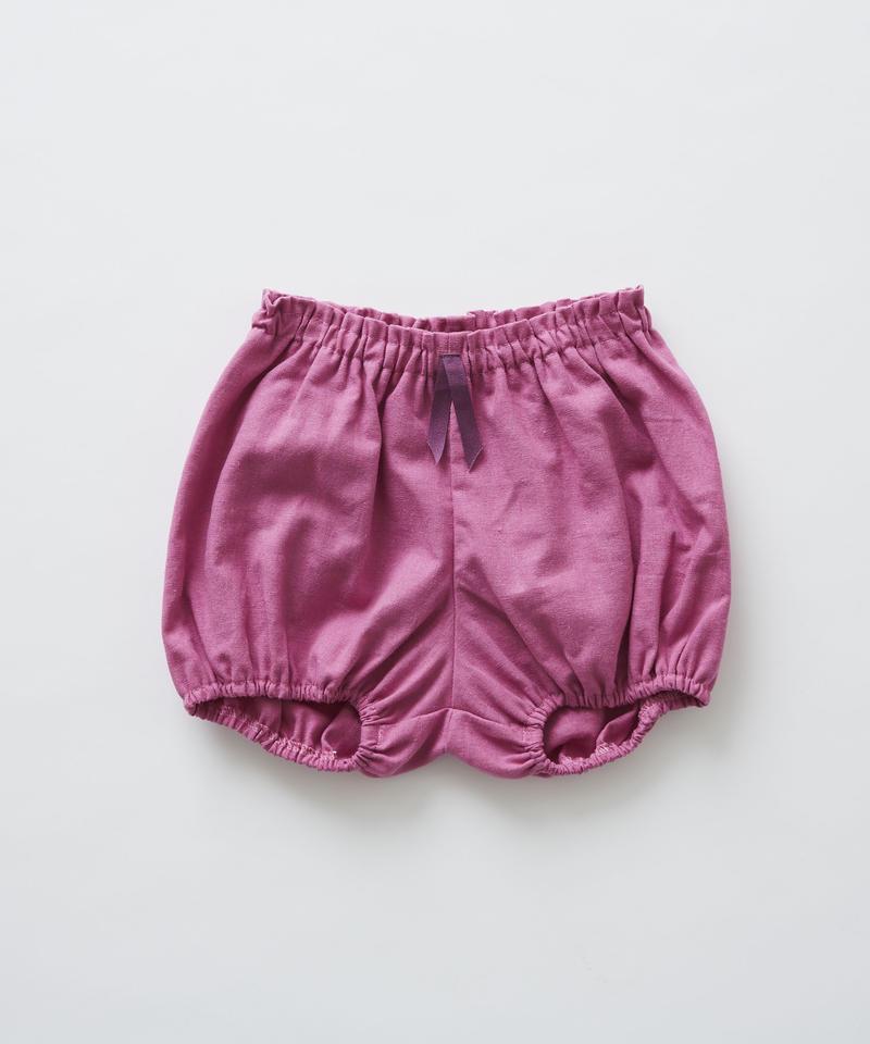 【 eLfinFolk 2019SS 】elf-191F34 linen canvas bloomers / pink