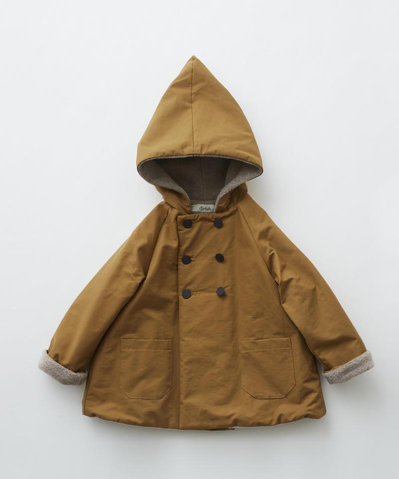 【 eLfinFolk 2019AW 】elf-192F22 elf coat / camel / 110 - 130cm