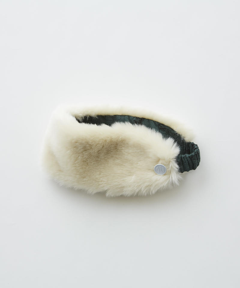 【 eLfinFolk 2019AW 】elf-192A39 fur turban by CA4LA×eLfinFolk / ivory / S(50-55)