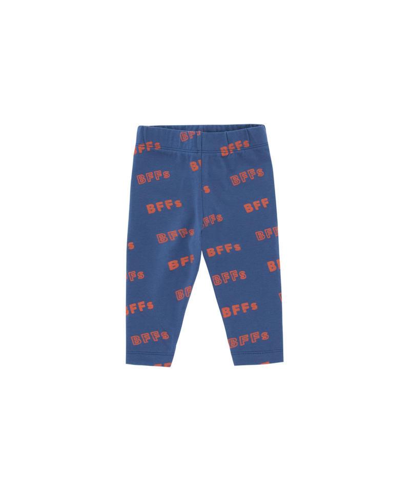 【 tiny cottons 2019SS 】SS19-316 'BFFs' PANT / light navy/sienna