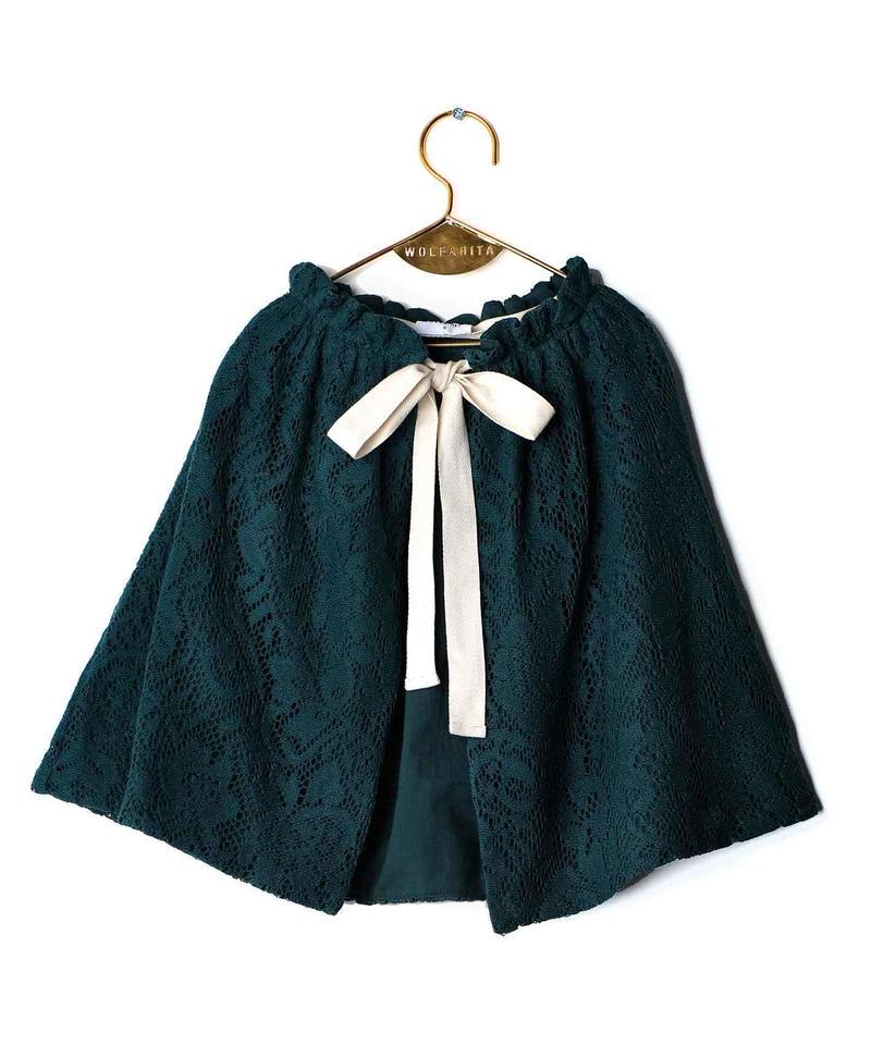 【 WOLF&RITA 2018AW 】 HELENA - Skirt / GREEN LACE