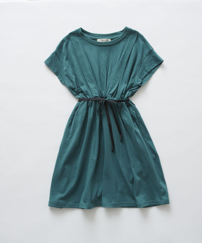 【 eLfinFolk 2019SS 】elf-191J05 waist gather dress / green