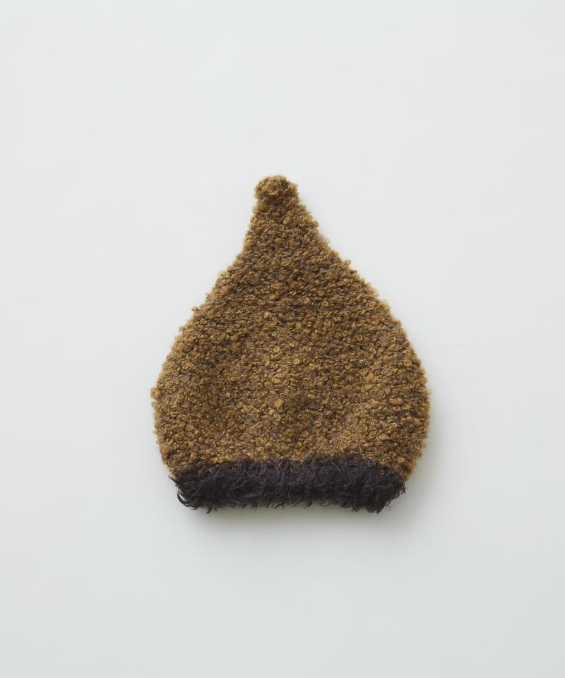 【 eLfinFolk 2019AW 】elf-192A40 pygmy cap / camel