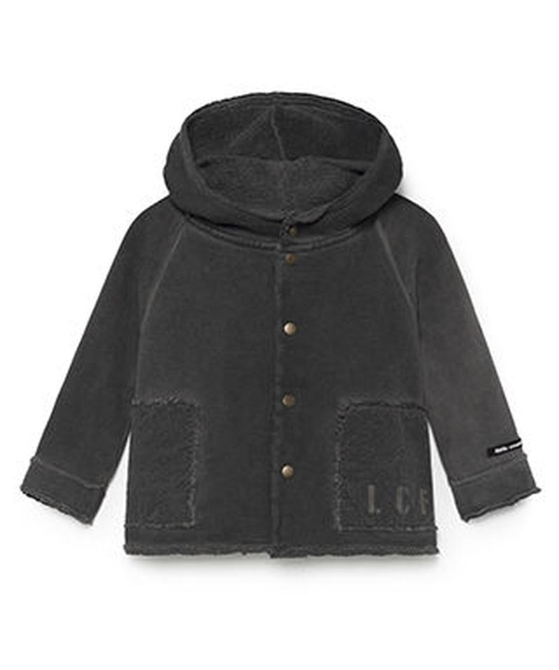 【 Little Creative Factory 2018AW】Baby Stretchy Hooded Jacket  / GRAPHITE