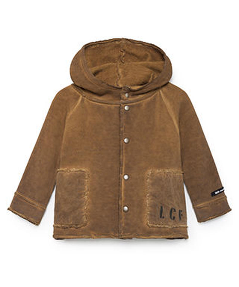 【 Little Creative Factory 2018AW】Baby Stretchy Hooded Jacket  / RUSTY