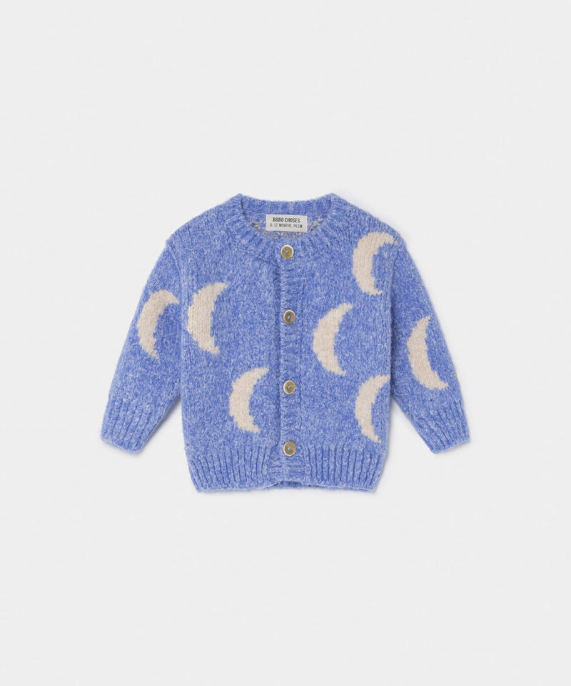 【 Bobo Choses 2019AW 】219207 MOON JACQUARD CARDIGAN
