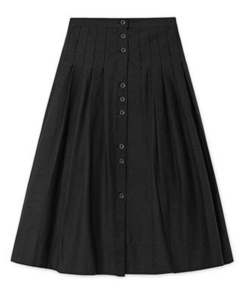 【 Little Creative Factory 2018AW】Horizon Skirt  / BLACK