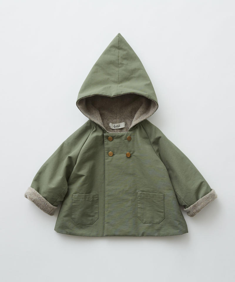 【 eLfinFolk 2019AW 】elf-192F21 elf coat / sage green / 90 - 100cm