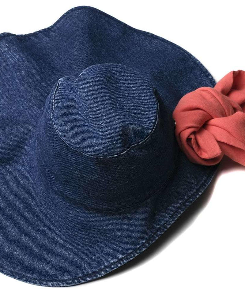 【 WOLF & RITA 2019SS 】CAROLINA - Hat / BLUE DENIM