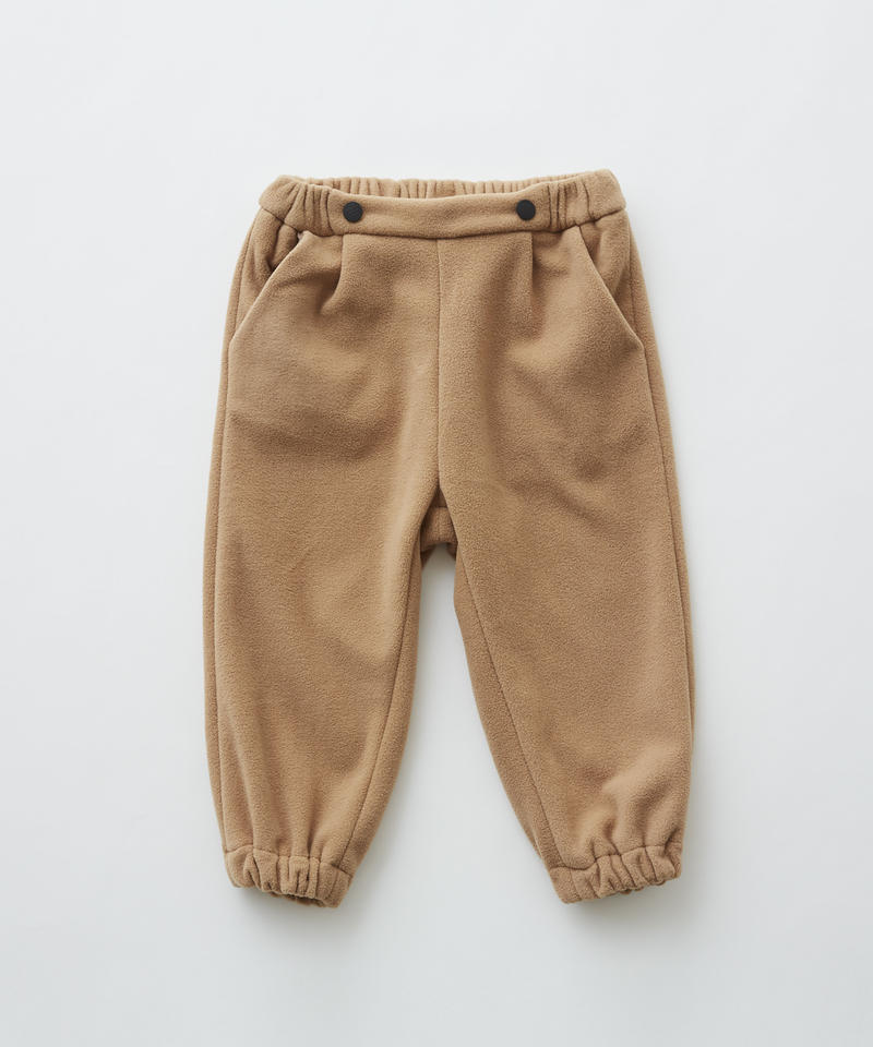 【 eLfinFolk 2019AW 】elf-192F29 freece pants / beige / 80 - 100cm