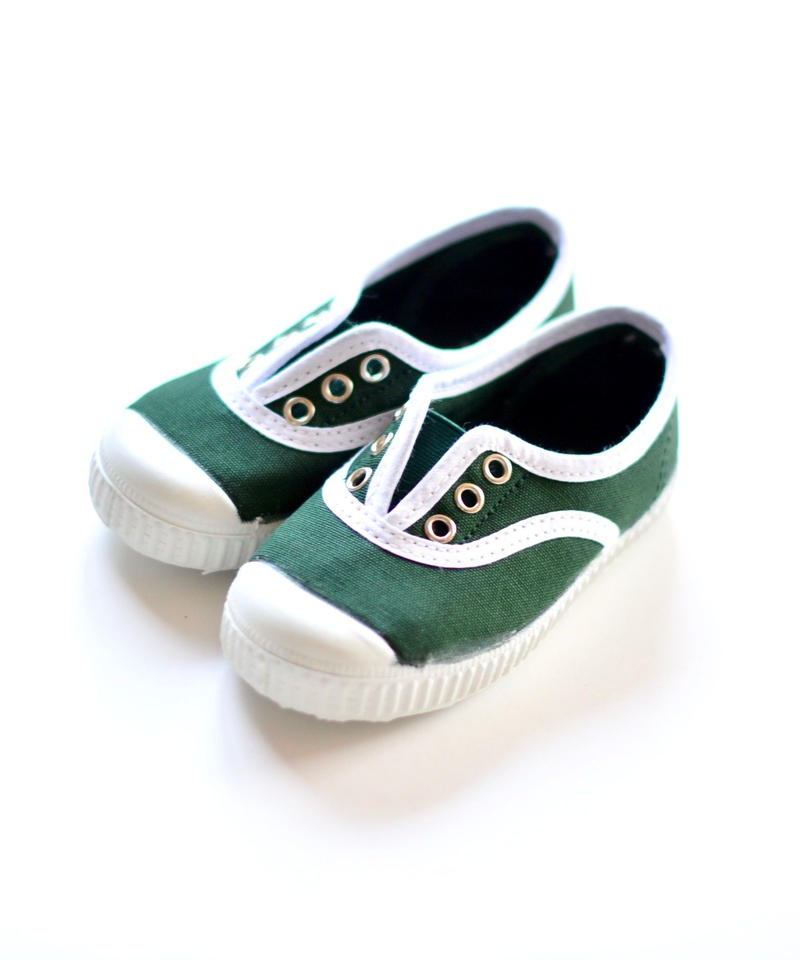 【 La Cadena 2019SS 】 INGLES ELASTICO P  - White Trim  / BOTTLE GREEN / 23〜24.5cm