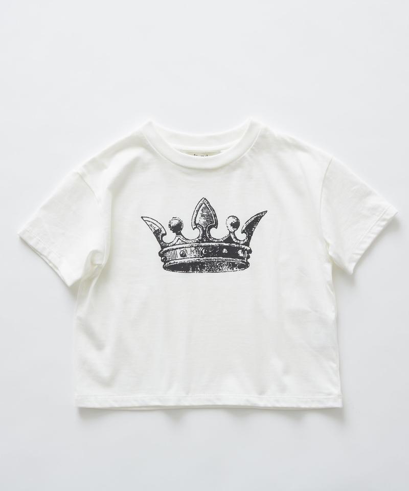 【 eLfinFolk 2019SS 】elf-191J02 crown T-shirts / white