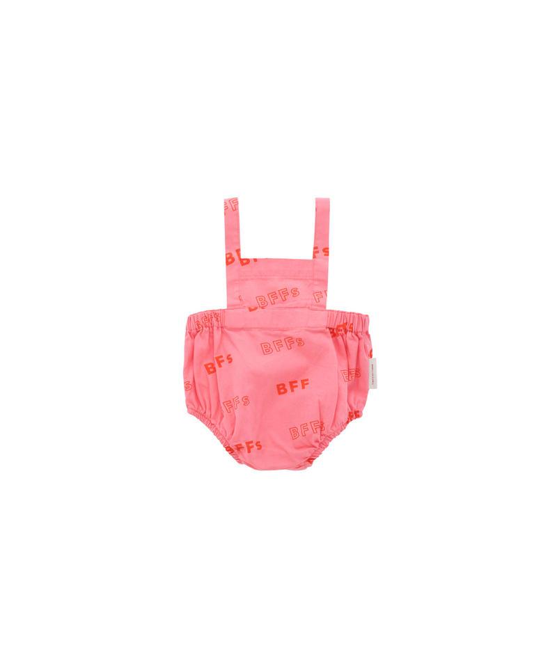 【 tiny cottons 2019SS 】SS19-153 'BFFs' BRACES BLOOMER / rose/red