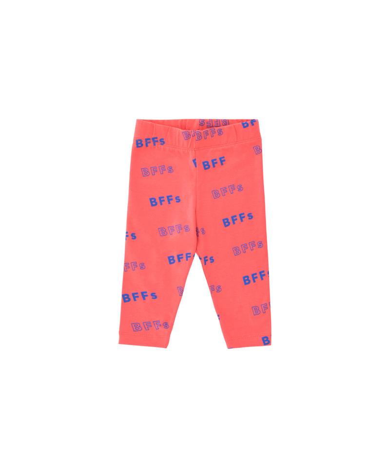【 tiny cottons 2019SS 】SS19-316 'BFFs' PANT / light red/ultramarine