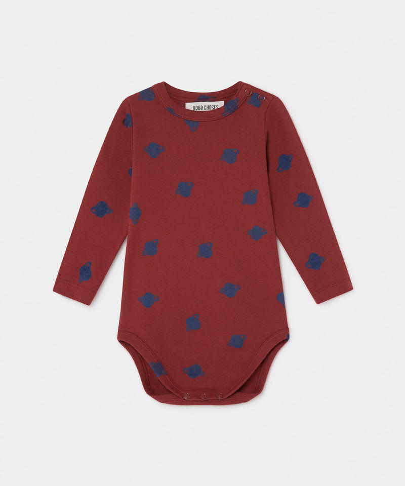 【 Bobo Choses 2019AW 】219146 ALL OVER SMALL SATURN LONG SLEEVE BODY / 6-12m